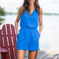 Love Like You Mean It Romper, Blue