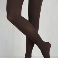 Vintage Inspired Reliably Chic Tights in Espresso