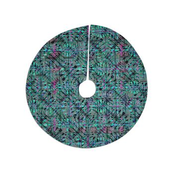 "Miranda Mol ""Tropical Camo Teal"" Teal Blue Pattern Abstract Digital Mixed Media Tree Skirt"