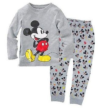Baby Boys Girl Kids Spring&Autumn Mickey Mouse clothing set 2pcs set Cotton Long Sleeve Sleepwear Pyjamas Children Pyjamas set