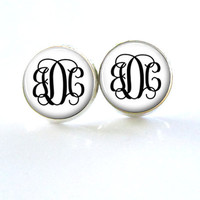 Monogram Stud Earrings (374)