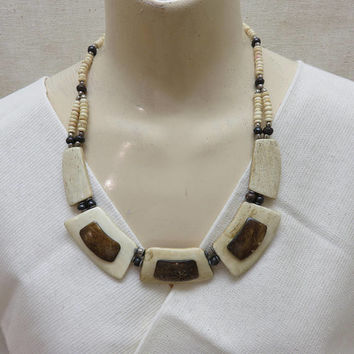 1980s Antler Piece Necklace, Modern Necklace