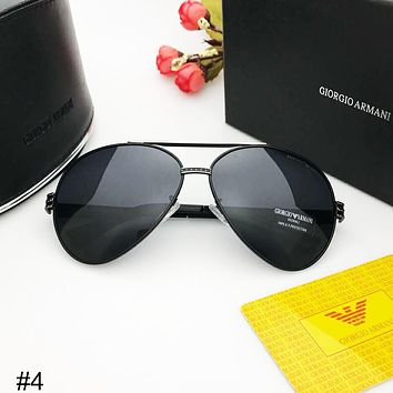 Giorgio Armani 2018 new big box simple men driving driver polarized sunglasses #4