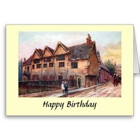 Birthday Card - Old Town Hall, Leicester