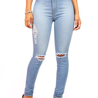 Bend It High Waist Skinny Jeans