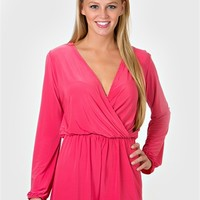 Out On The Town Romper - Pink at Bluetique Cheap Chic
