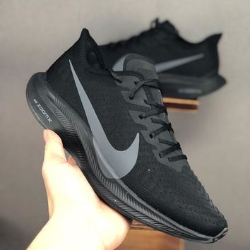 HCXX 19June 968 Nike Air Zoom Structure 36 Ice mesh face breathable casual running shoes black