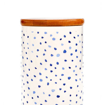 Indigo Ceramic Storage Jar