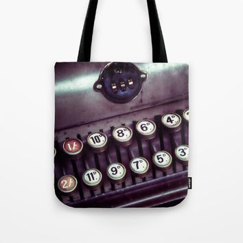 Vintage Cash Register Tote Bag by Vicki Field