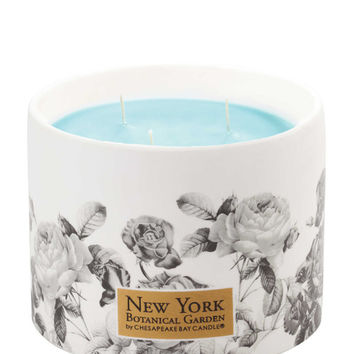 NEW YORK BOTANICAL GARDEN Ceramic Water Blossom Candle