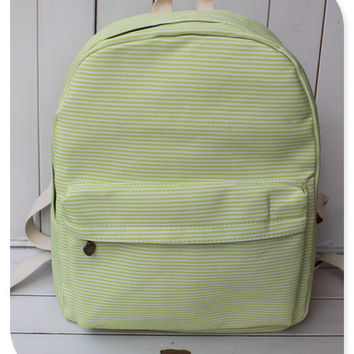 Canvas Striped Stripes Backpack = 4887522628