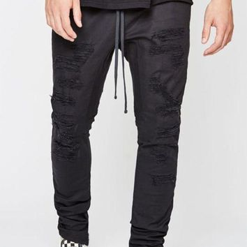 VONE05W PacSun Drop Skinny Stitch & Repair Jogger Pants