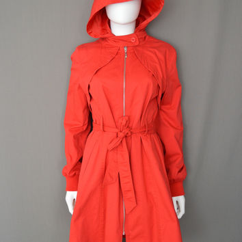 Kenneth Cole Reaction Little Red Riding Hood Parka Rain Coat