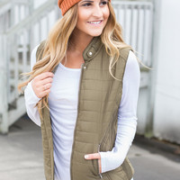 Limitless Puffer Vest - Olive