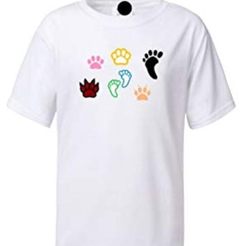 ALNBRANDS® Paw Prints Youth Logo Tee by