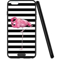 Top Coach.00 Flamingo Stripe Print On Hard Cover Phone Case Protector For iPhone