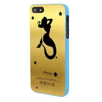 Mermaid Gold iPhone 5 Case Framed Blue