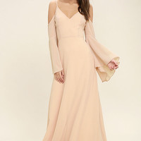Glamorous Greeting Blush Maxi Dress