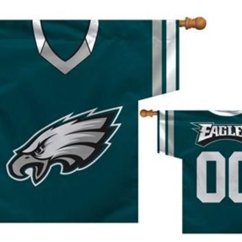 Philadelphia Eagles NFL Jersey Banner 34x30 2-sided