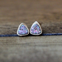 Micro Triangle Studs - Unicorn