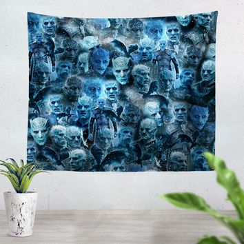 Night King Face Tapestry