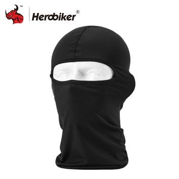 HEROBIKER Motorcycle Face Mask Thermal Synthetic Silk Ultra Thin Ski Face Mask Hood Helmet Balaclava Hat Headwear Motorcycle