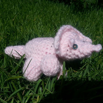 Curious Crocheted Triceratops