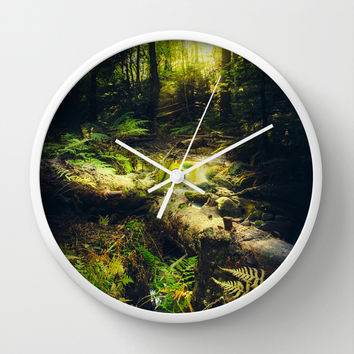 Down the dark ravine Wall Clock by HappyMelvin