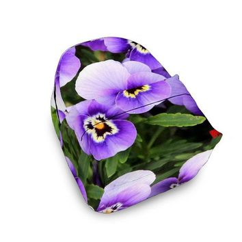 Purple Flower Backpack