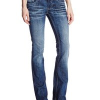 Vigoss Juniors Bootcut New York Flap Jean, Medium Tint, 32