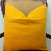 Mustard Throw Pillows, Yellow Wool Pillow Covers, Mustard Pillows, Decorative Wool Pillow, Mustard Yellow Wool Cushion Covers, Throw Pillows