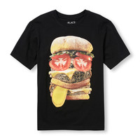 Boys Short Sleeve Burger Face Graphic Tee | The Children's Place