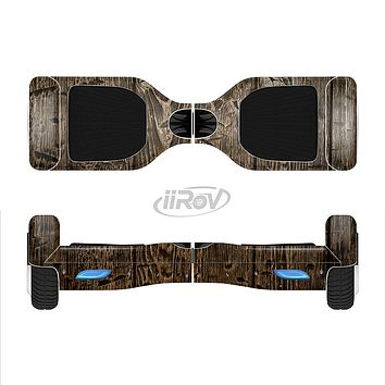 The Rough Textured Dark Wooden Planks Full-Body Skin Set for the Smart Drifting SuperCharged iiRov HoverBoard