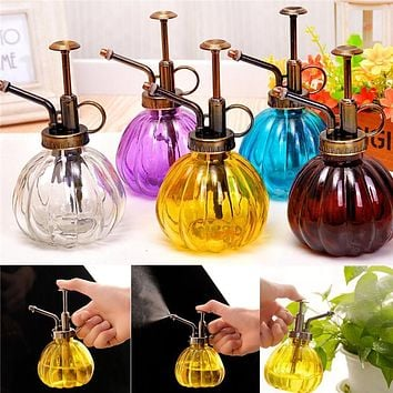 Watering Pot Flower Antique Plastic Glass Bronze Style Plants Shower Crafts Cans Bottle Small Vintage Succulent Garden Tools