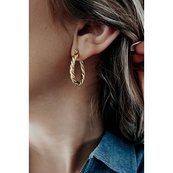 Around We Go Earrings: Gold