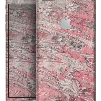 Red Slate Marble Surface V40 - Skin-kit for the iPhone 8 or 8 Plus