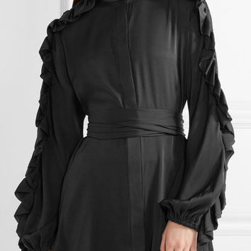 Ellery - Audacity ruffle-trimmed stretch-silk blouse