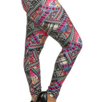 Popular Women's Plus Size Pink Bohemian Leggings 1X/2X, 3X/4X