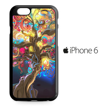 Artistic Psychedelic Womens Tree iPhone 6 Case