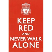 Liverpool-Keep Red Poster Poster Print, 24x36