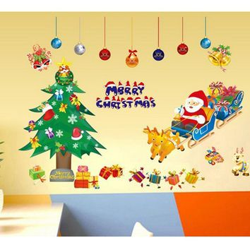 christmas wall stickers home decor new year present merry christmas decoration christmas