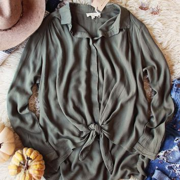Colorado Tie Top in Olive