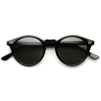 Vintage Inspired Key Hole Round Spectacles P3 Sunglasses 7055