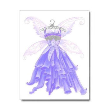 Baby Girl Nursery, Purple Fairies Dress Art Print, Girls room Decor, Girl Nursery Decor, Girls Wall Art, Kids Decor, Nursery Wall Art Decor