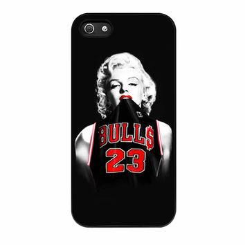 Marilyn Monroe Chicago Bulls Jersey Michael Jordan iPhone 5 Case
