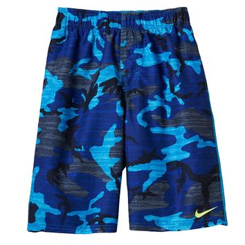 Nike Camo Swim Trunks - Boys 8-20, Size: