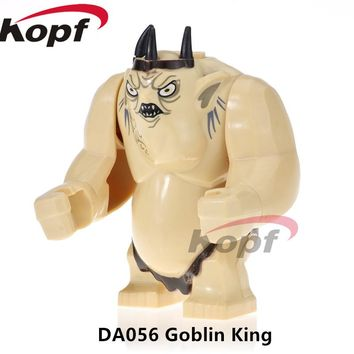 DA056 Super Heroes Lord of the Rings Goblin King Cave Troll Big Size Figures Hulk Building Blocks Learning Children Gift Toys