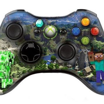 "Xbox 360 controller (modded), "" Minecraft "" skin , Three additional modes (10 Modes Dual Rapid Fire + Fast Aim Mode (quick scope) + Central Button Light) Wireless Original Microsoft controller ,works Best with MW1.2.3 , COD , BATTLEFIELD , HALO...Contains"