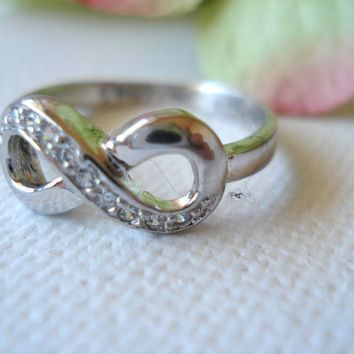 Engrave Sterling Silver Infinity with CZ Custom by blueJboutique7