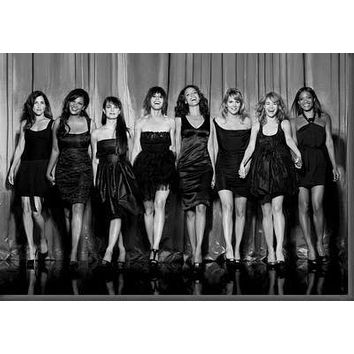 L Word Cast poster Metal Sign Wall Art 8in x 12in Black and White